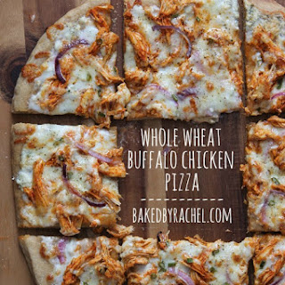 Whole Wheat Buffalo Chicken Pizza