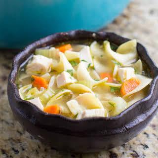 Leftover Turkey Noodle Soup.