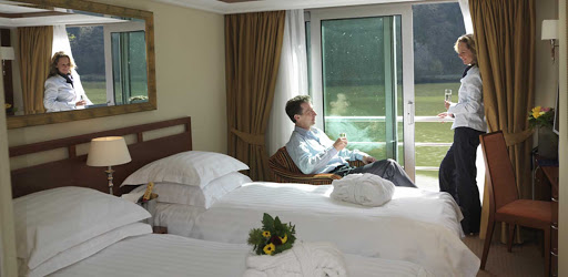 Relax in your stateroom and take in views of stirring landscapes along the riverbanks of France on AmaLegro.