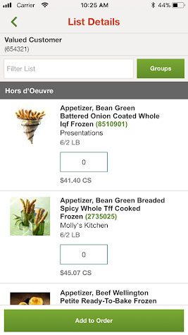 US Foods Screenshot