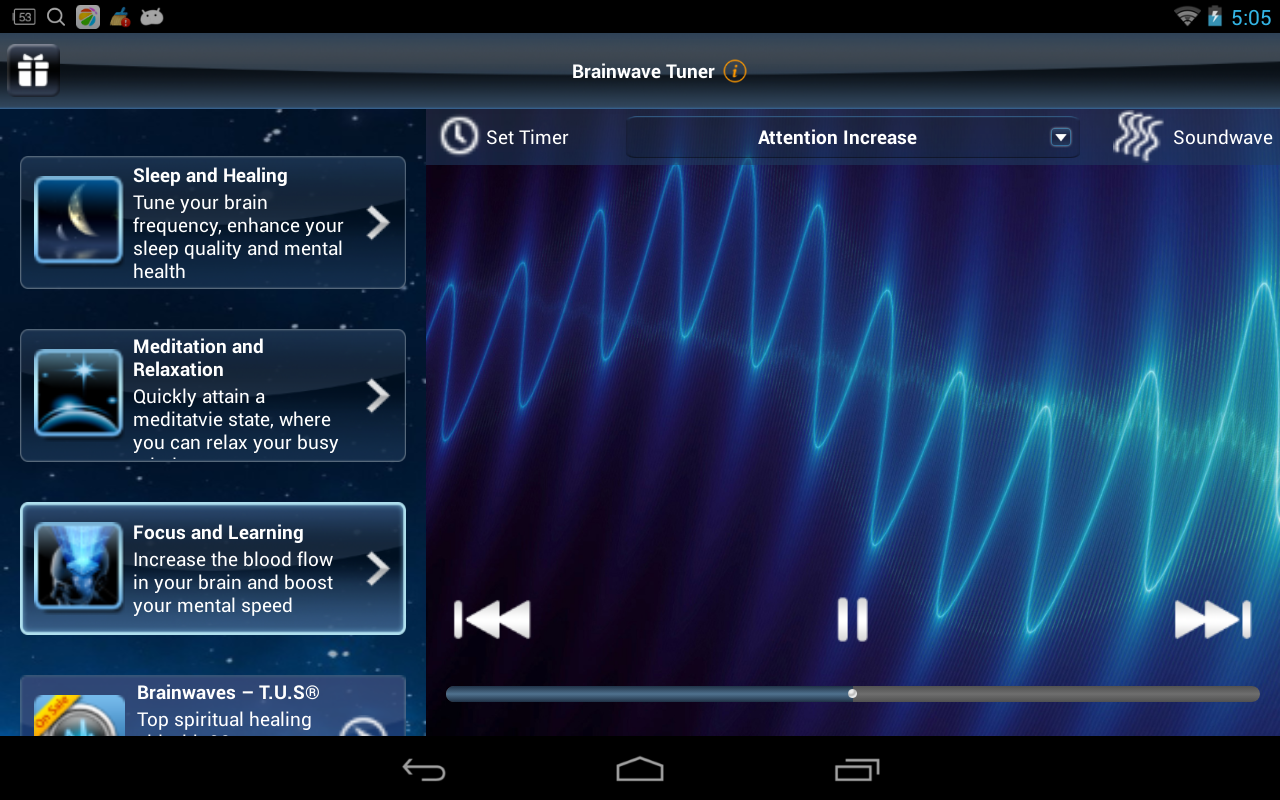 Brainwave Tuner Lite- screenshot