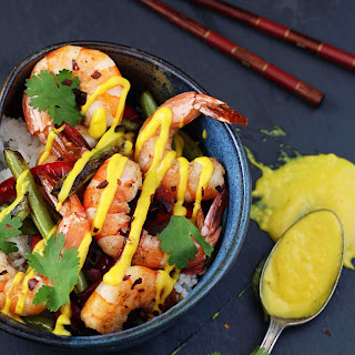 Shrimp with Mango Curry Sauce
