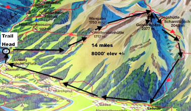 Photo: 3-D overview of day hike