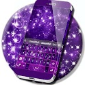 Violet Sparkly Galaxy Keyboard icon