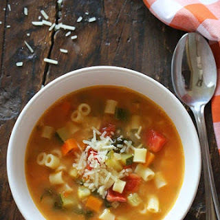 Crock Pot Minestrone Soup.