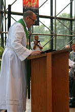 Photo: Rev. Golden shared the first reading from Acts 2:42-47.