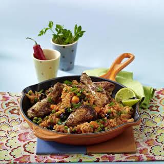 Chicken with Spanish Rice.
