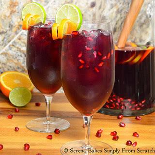 Red Wine Pomegranate Sangria.