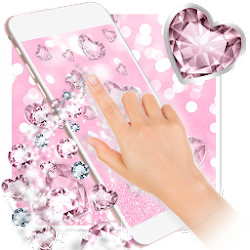 Pink Glitter Diamond Wallpaper