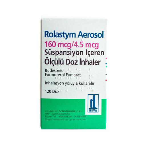Budesonida + Formoterol Rolastym 160/4,5mcg x 120 Dosis Inhalador Deva