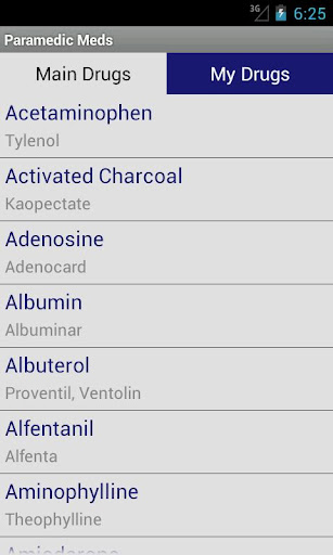 Paramedic Meds screenshot for Android