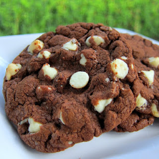 White Chocolate Chip Nutella Cookies.
