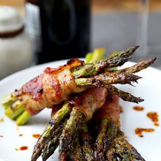 Bacon Wrapped Asparagus With Honey Miso Glaze