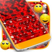 Red Camo Keyboard Theme