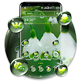 White Lily Rain Drop Launcher Theme APK