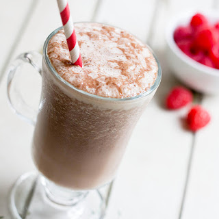 Raspberry Mocha Protein Smoothie