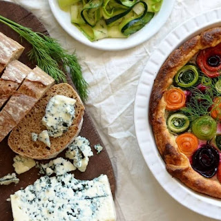 Savory Provençal Cheese and Vegetables Tart.