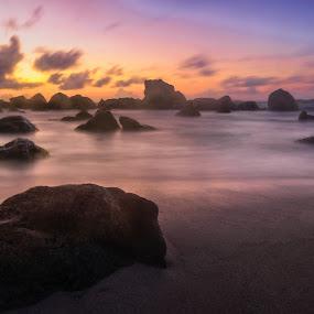 Aruba Sunrise by Andy Snider - Landscapes Beaches ( carribean, sunrises, aruba, 2014, sunset, seascapes, sunrise )