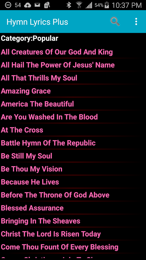 Hymn Lyrics Plus- screenshot