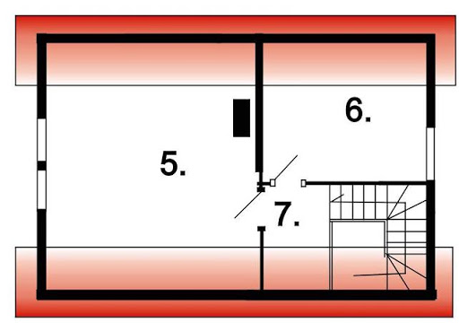 BR-104drs - Rzut poddasza