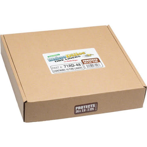 Rhinodillos Tire Liner: 26x2.0-2.125 Brown, Packaged in Bulk Box of 10