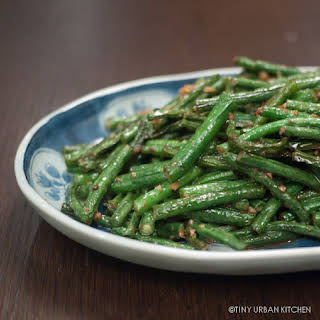 Stir Fried Chinese Long Beans with Garlic.