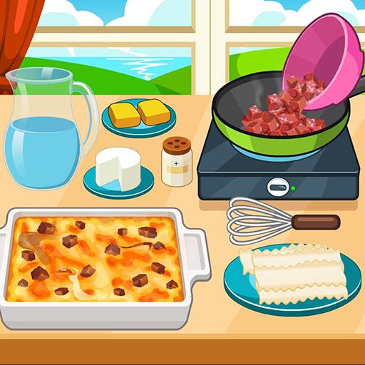 Beef taco lasagna cooking game Icon