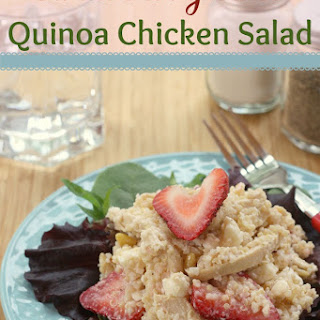 Strawberry Lime Quinoa Chicken Salad
