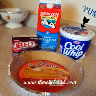 Easy Summer Chocolate Pudding Pie.