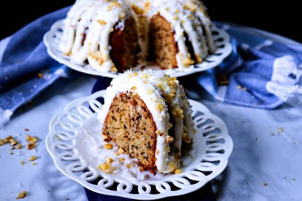 Italian Creme Bundt Cake Ready To Serve.
