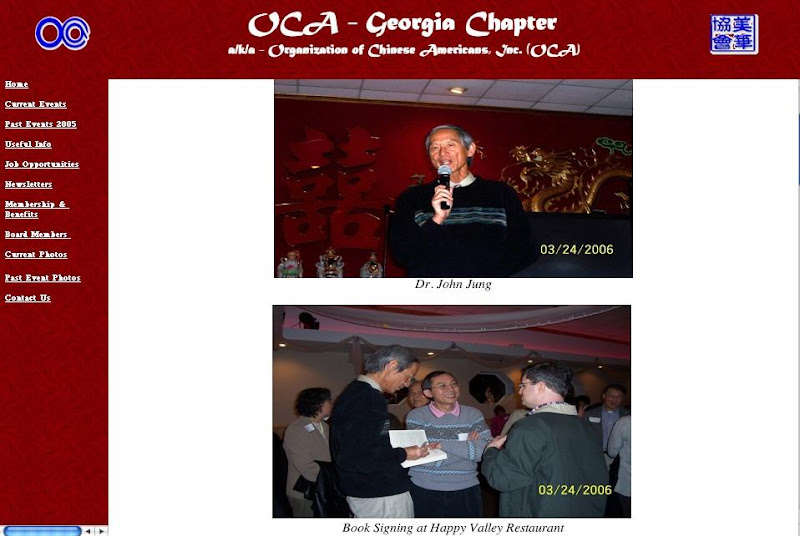 Photo: Announcement for OCA Talk, and posing with cousin Henry Jew and historian friend, Daniel Bronstein