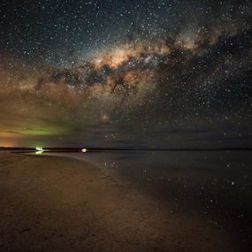 Under The Stars by Greg Tennant - Landscapes Starscapes ( reflection, lake, milky way )