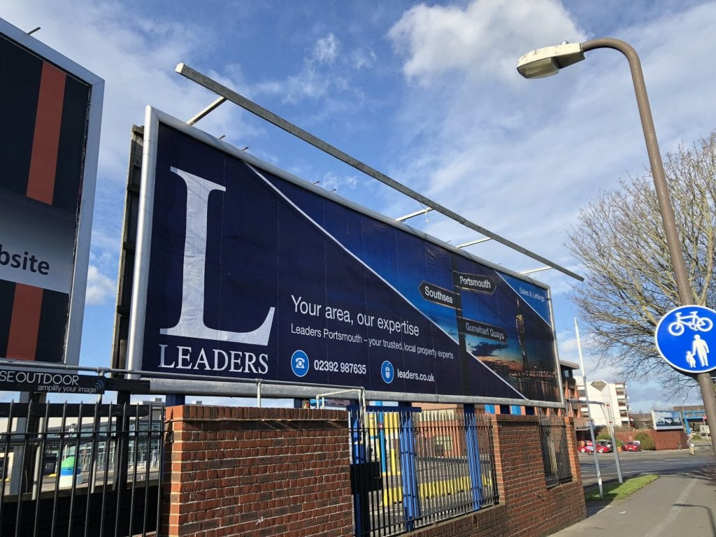 Leaders Portsmouth used a large traditional billboard to highlight their hyperlocal focus.