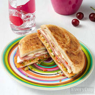 Fried Bologna Sandwiches with Olive Salad.