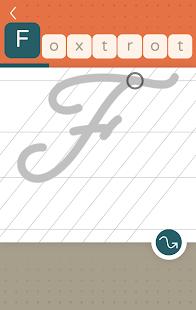LazyDog calligraphy and cursive writing practice apk screenshot 2