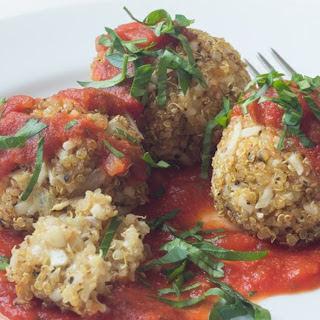 Mozzarella Quinoa Meatballs [Vegan].