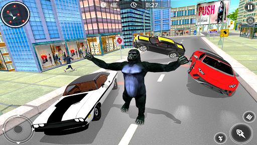 Gorilla City Simulator - Rope Hero Gorilla Game  captures d'écran 1