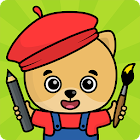 Coloring games for kids icon