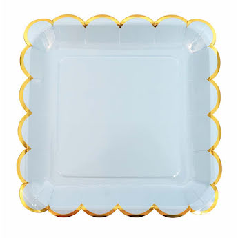 Plate blue/gold