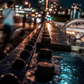 Night Vision by Carol Montgomery - City,  Street & Park  Street Scenes ( color, depth of field, night, bokeh, light,  )