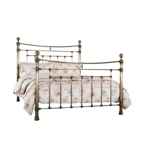 Serene Edmond Bed Frame Antique Brass