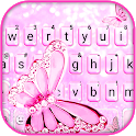 Pink Shiny Butterfly Keyboard Background icon