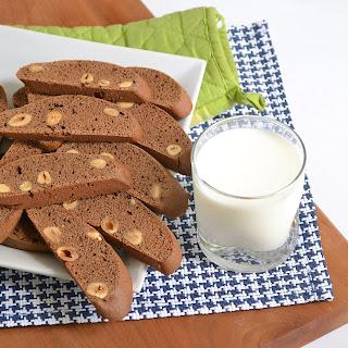Spiced Mocha Hazelnut Biscotti