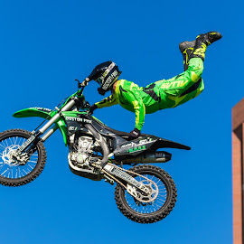 Jumper Hand Stand by Carl Albro - Sports & Fitness Motorsports ( jumping, motorbike, motorcycle )