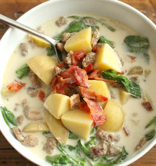 """Click Here for Recipe: Crockpot Zuppa Toscana Soup """"Here's a particularly cozy..."""