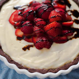 Strawberry Balsamic Custard Tart.