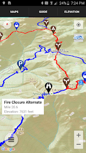 Guthook's PCT Guide- screenshot thumbnail