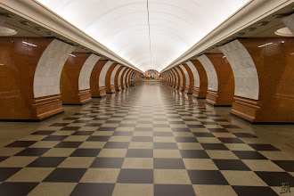 Photo: The Victory Park metro station https://en.wikipedia.org/wiki/Park_Pobedy_(Moscow_Metro)