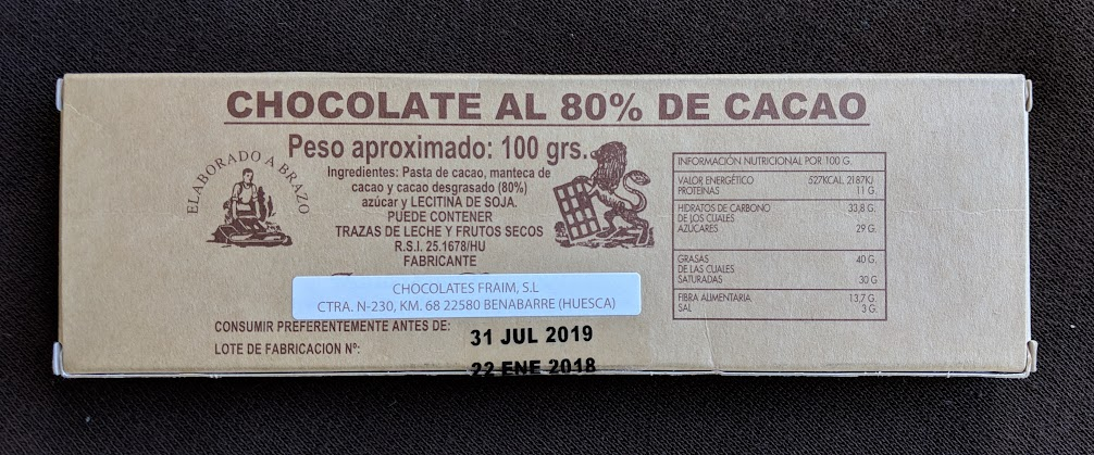 80% Francisco Bresco Bar
