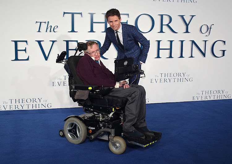Stephen Hawking and actor Eddie Redmayne who played the famous cosmologist in 'The Theory Of Everything'. (File photo.)